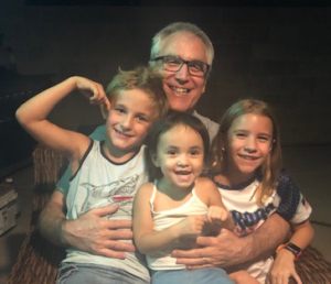 Image of Ed Nagelhout with Grand Children
